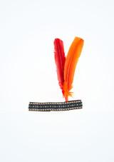 Diadema de plumas Multicolor frontal. [Multicolor]