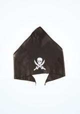 Bandana de pirata Negro frontal. [Negro]