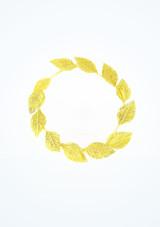 Diadema romana de laurel Dorada Oro frontal. [Oro]
