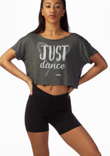 Top Danza Corto Just Dance So Danca Negro frontal. [Negro]
