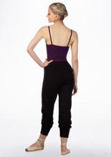 Pantalon acampanado de bambu Ballet Rosa Negro trasera. [Negro]