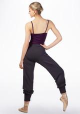 Pantalon acampanado de bambu Ballet Rosa Gris trasera. [Gris]