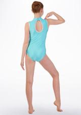 Maillot de danza con cuello de tortuga Tappers & Pointers Azul trasera. [Azul]