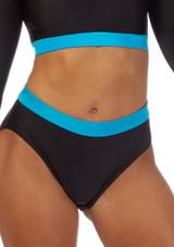 Pantalon Corto Gimansia Nina con Cinturilla Alegra Fuse Azul frontal #2. [Azul]
