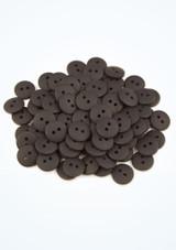 Botones de colores 100 unidades Negro frontal. [Negro]