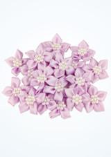 Flores con bolitas de perla 20 unidades Violeta frontal. [Violeta]