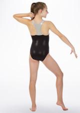 Maillot de gimnasia con espalda de nadador Alegra Negro trasera. [Negro]