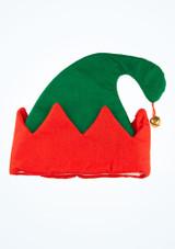 Gorro de elfo con campanilla Verde frontal. [Verde]