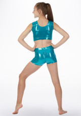Pantalon corto de gimnasia Alegra Azul trasera. [Azul]