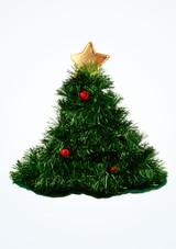 Sombrero de arbol de Navidad Verde frontal. [Verde]