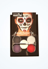Kit de maquillaje Dia de los Muertos Multicolor frontal. [Multicolor]