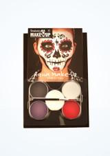 Kit de maquillaje Dia de los Muertos Multicolor frontal. [Multicolor]