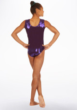 Maillot de gimnasia Purple Storm Alegra Violeta trasera. [Violeta]