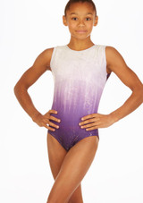Maillot de gimnasia Purple Storm Alegra Violeta frontal. [Violeta]