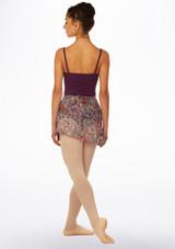 Falda de danza floral cruzada Move Lila Violeta trasera. [Violeta]