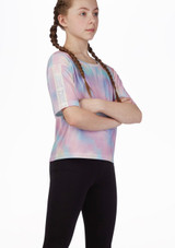 Camiseta de danza corta Move Dance Multicolor frontal. [Multicolor]
