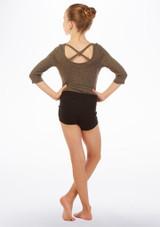 Maillot Ballerina con espalda cruzada Move Dance Gris trasera. [Gris]
