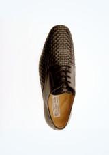 Zapatos de salon con efecto trenzado Werner Kern Hombre Negro superior. [Negro]