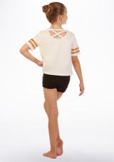 Camiseta Hashtag Move Dance Rosa trasera. [Rosa]