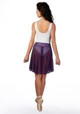 Falda de danza de malla Ballet Rosa Violeta trasera. [Violeta]