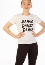 Camiseta Eslogan 'Danca' Move Dance Blanco frontal. [Blanco]