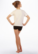 Camiseta Eslogan 'Love Dance' Move Dance Blanco trasera. [Blanco]
