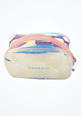 Bolsa de maquillaje holografico Capezio Multicolor superior. [Multicolor]