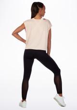 Camiseta de baile con espalda de malla Move Rosa trasera. [Rosa]