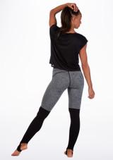 Camiseta de baile con espalda de malla Move Negro trasera. [Negro]