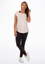 Camiseta de baile con espalda abierta Move Rosa frontal. [Rosa]