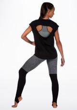 Camiseta de baile con espalda abierta Move Negro trasera. [Negro]