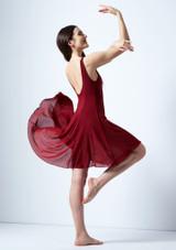 Vestido lirico con escote redondo Cressida Move Dance Rojo lateral. [Rojo]