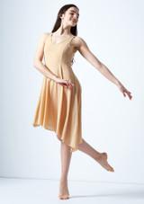 Vestido lirico con escote redondo Cressida Move Dance Marrón Claro frontal. [Marrón Claro]