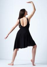 Vestido lirico con escote redondo Cressida Move Dance Negro trasera. [Negro]