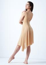 Vestido lirico con escote redondo Cressida Move Dance Marrón Claro trasera. [Marrón Claro]