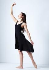 Vestido lirico con escote redondo Cressida Move Dance Negro frontal. [Negro]