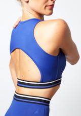 Top corto de baile con aperturas Move Dance Believe Azul trasera #2. [Azul]