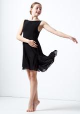 Vestido de baile lirico asimetrico para joven Portia Move Dance Negro frontal. [Negro]