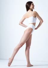 Top corto estilo camisola Carpo Move Dance Blanco trasera. [Blanco]