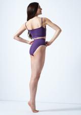 Top corto estilo camisola Carpo Move Dance Violeta trasera. [Violeta]