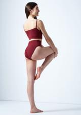 Top corto estilo camisola Carpo Move Dance Rojo trasera. [Rojo]