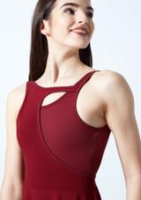 Vestido de baile lirico con aperturas Thalassa Move Dance Rojo frontal #2. [Rojo]