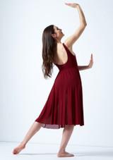 Vestido de baile lirico con aperturas Thalassa Move Dance Rojo trasera. [Rojo]