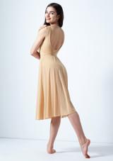 Vestido de baile lirico con aperturas Thalassa Move Dance Marrón Claro trasera. [Marrón Claro]