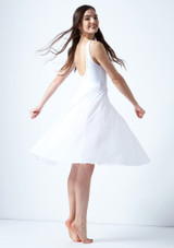 Vestido de baile lirico con aperturas Thalassa Move Dance Blanco trasera. [Blanco]