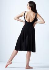 Vestido de baile lirico con aperturas Thalassa Move Dance Negro trasera. [Negro]