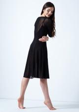 Vestido de baile lirico de manga larga Dione Move Dance Negro trasera. [Negro]