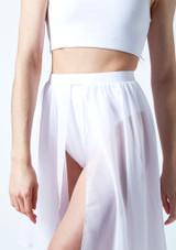 Media falda asimetrica de baile lirico Eris Move Dance Blanco frontal #2. [Blanco]