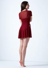 Vestido de baile lirico con mangas cortas Ceres Move Dance Rojo trasera. [Rojo]