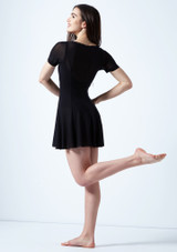 Vestido de baile lirico con mangas cortas Ceres Move Dance Negro trasera. [Negro]